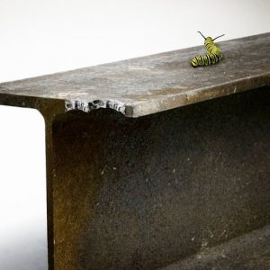 Caterpillar took a bite out of a steel beam